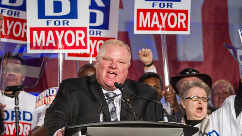 Скандально известный мэр Торонто Роб Форд решил баллотироваться на второй срок