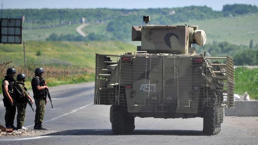 Ополченцы обстреляли колонну украинских военных под Изюмом, погиб один человек