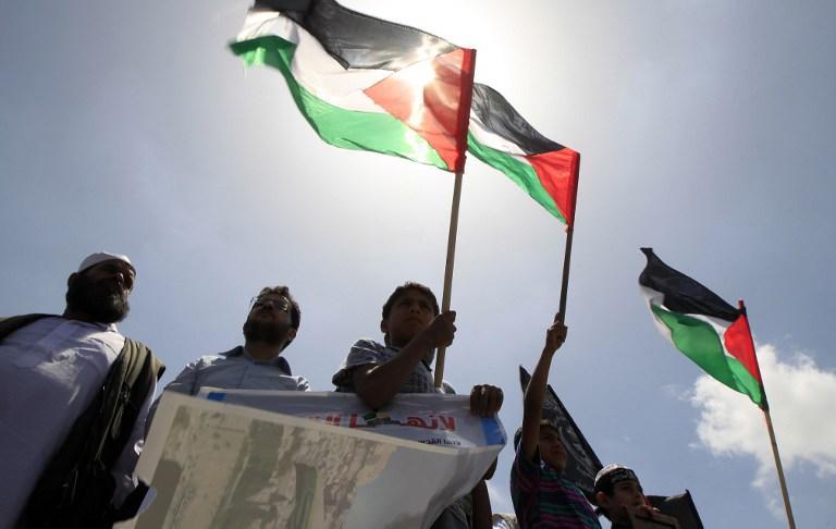 Палестинский флаг впервые помещён рядом с израильским