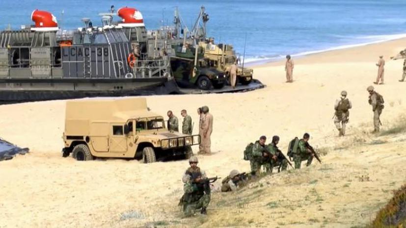 СМИ: Морпехи НАТО с трудом высадились на берег Португалии