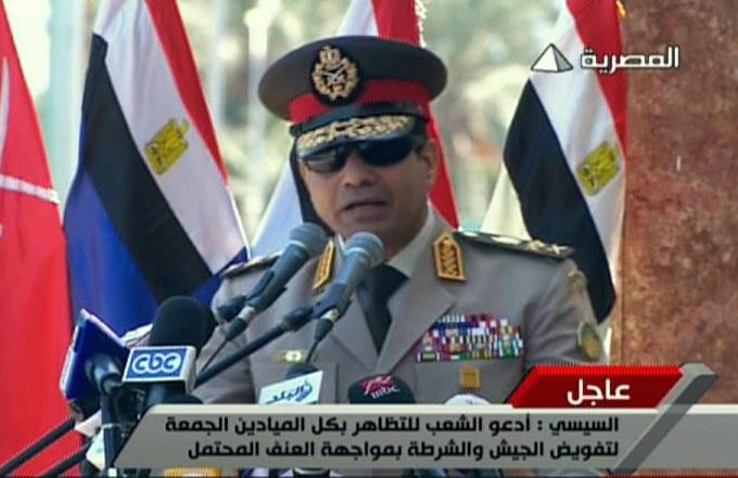 Министр обороны Египта призвал граждан к демонстрациям в поддержку армии