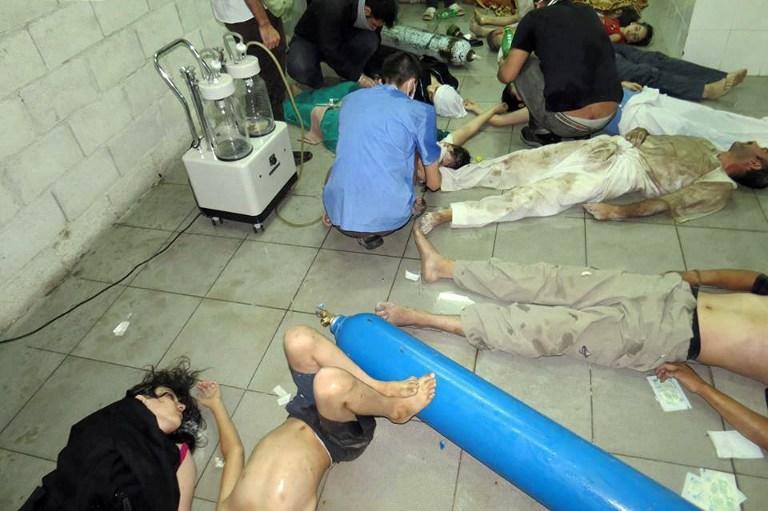 Канал CNN показал видеозаписи с жертвами химической атаки в Сирии