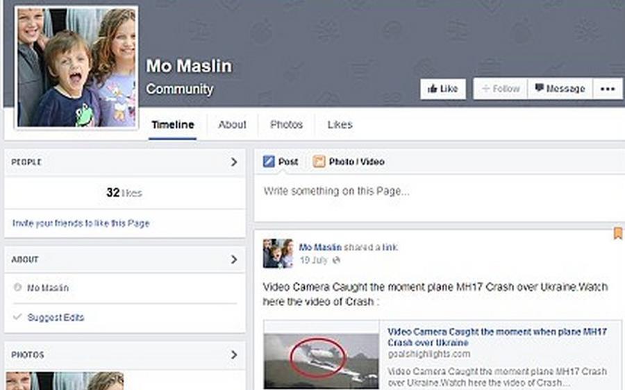 Мошенники создают аккаунты жертв крушения Boeing 777 в Facebook для продажи наркотиков и порнографии