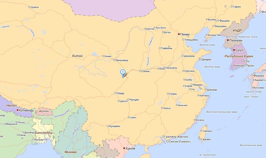 Землетрясение в Китае: есть жертвы