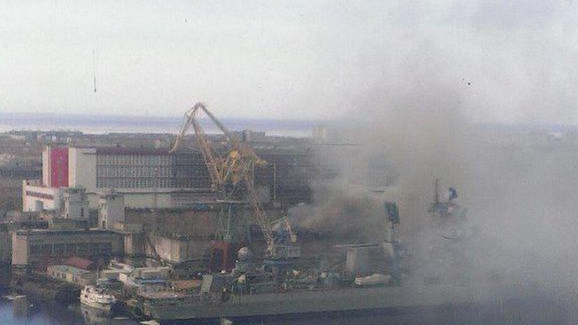 На судоремонтном заводе «Звёздочка» загорелась атомная подлодка