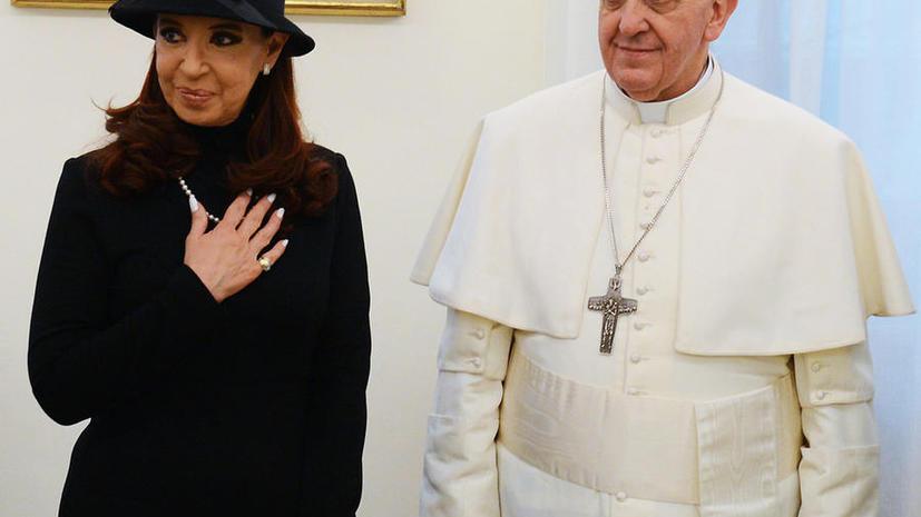 Президент Аргентины попросила Папу Римского вмешаться в фолклендский конфликт