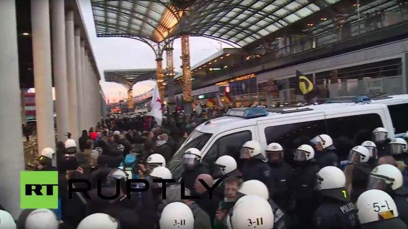 Антиисламский митинг в Кёльне 9 января
