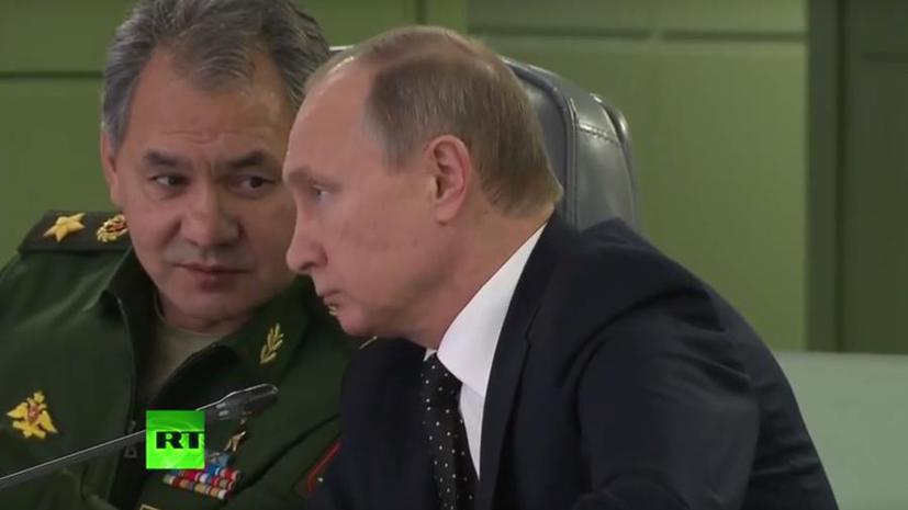 Владимир Путин поручил Минобороны РФ разработать с французскими ВМС план совместных действий в Сирии