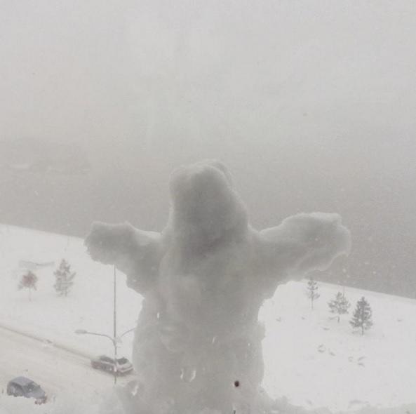 Пользователи соцсетей делятся фото и видео последствий сильного снегопада в Омске