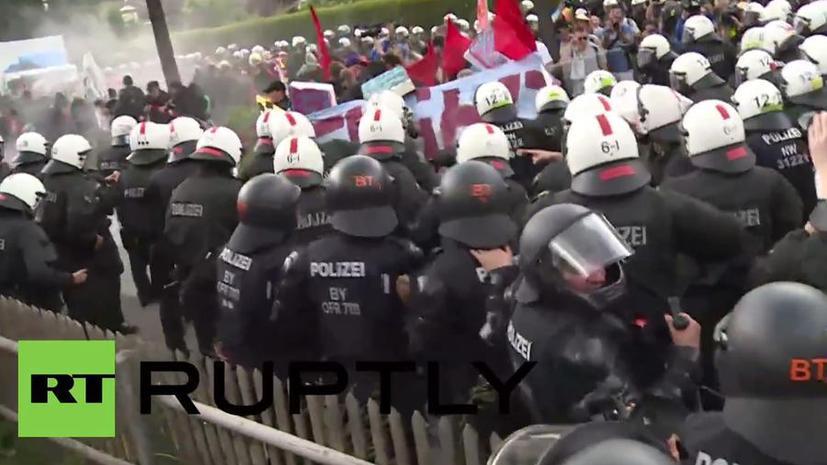 Полиция применила слезоточивый газ во время акции протеста против саммита G7 в Германии