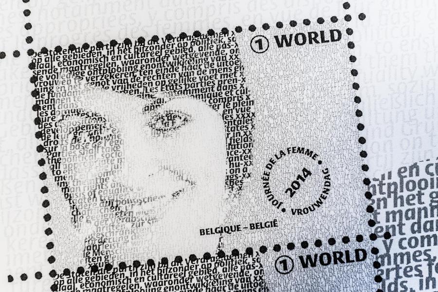 Текст Конвенции о ликвидации всех форм дискриминации в отношении женщин появился на бельгийских марках