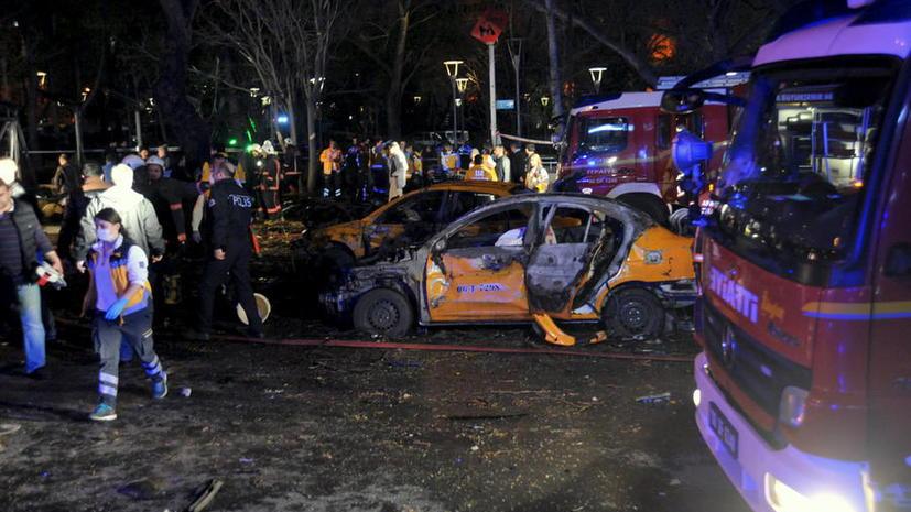В центре Анкары прогремел мощный взрыв