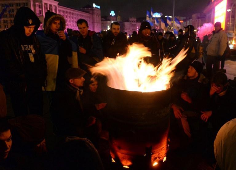 В центре Киева состоялся митинг сторонников евроинтеграции