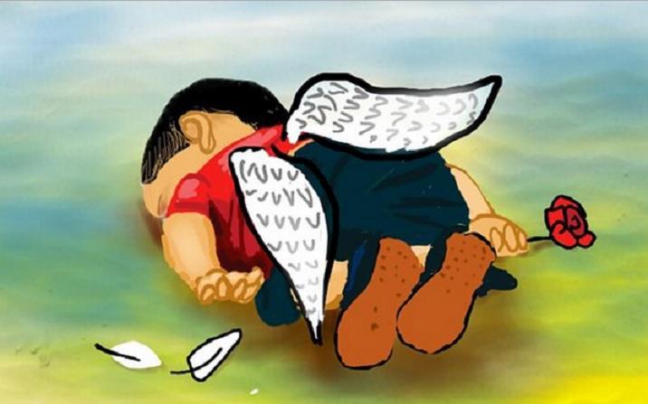 Пользователи соцсетей отреагировали на трагедию погибшего трёхлетнего беженца из Сирии