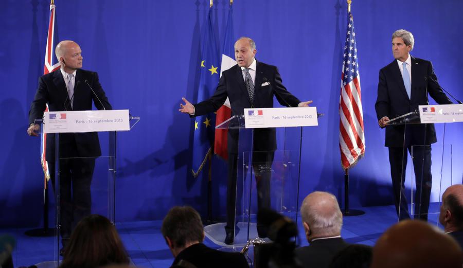 Франция, Великобритания и США готовятся внести в СБ ООН резолюцию по Сирии