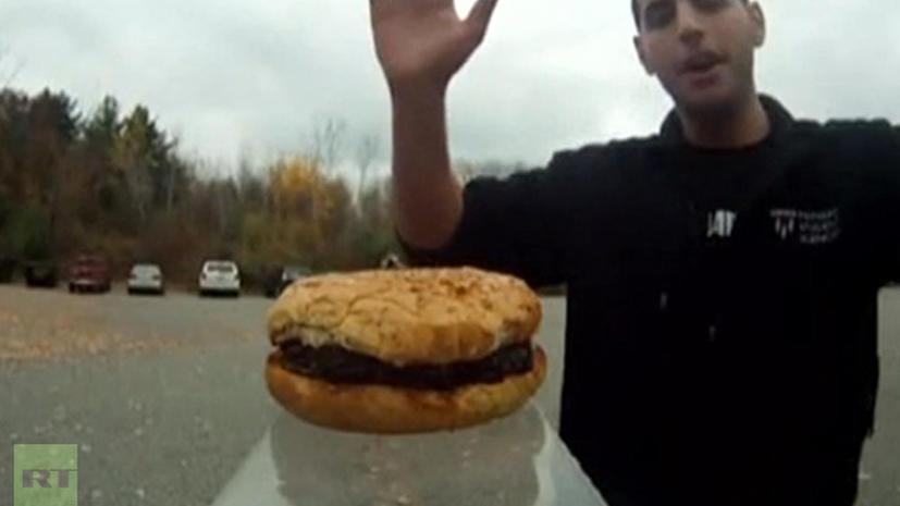 Студенты Гарварда отправили в космос гамбургер