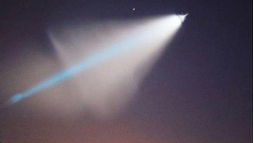 Жители Калифорнии приняли испытательный пуск баллистической ракеты за НЛО