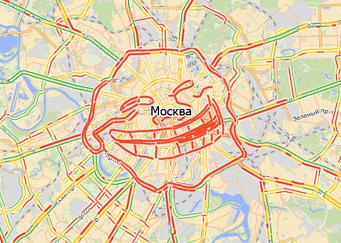 Блогеры подозревают «Яндекс.Пробки» в сговоре с московской мэрией