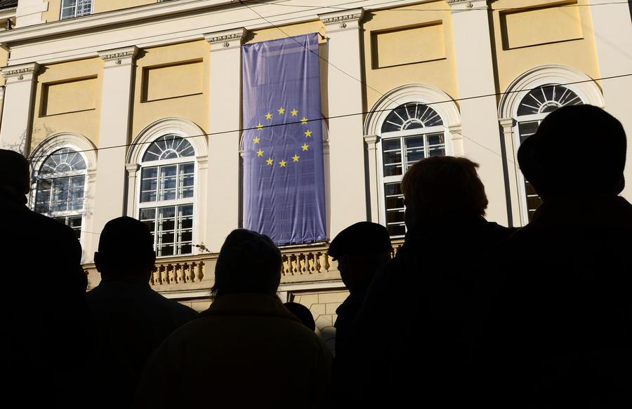 В центре Киева собрались возмущённые сторонники евроинтеграции