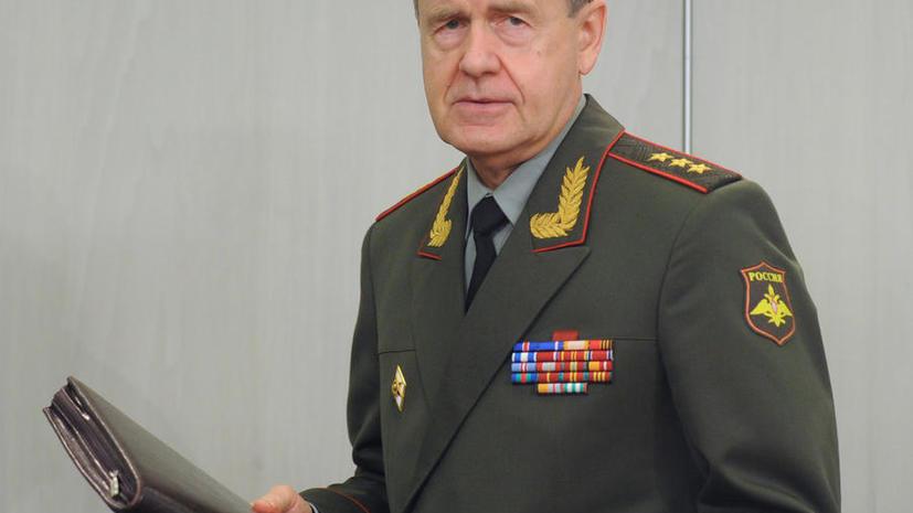 Минобороны: замглавы генштаба Василий Смирнов уйдёт в отставку