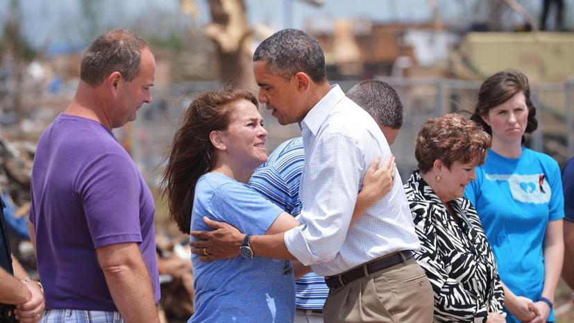 Барак Обама встретился с жителями Оклахомы, пережившими торнадо