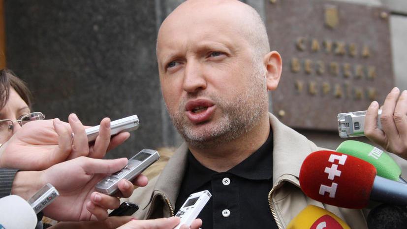 Турчинов: Принято решение о широкомасштабной спецоперации на востоке страны с привлечением ВС Украины