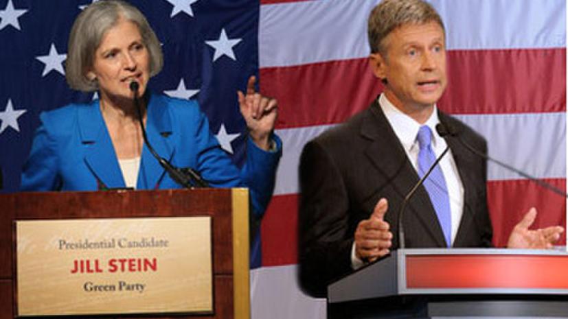 Телеканал RT покажет заключительный раунд теледебатов кандидатов в президенты США от третьих партий
