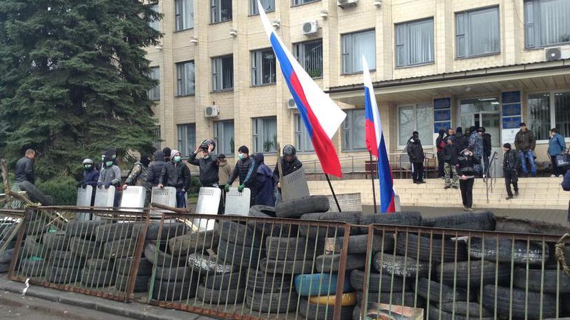 Жители Краматорска встретили на аэродроме замглавы СБУ Украины Василия Крутова