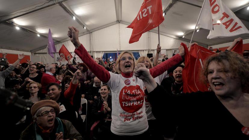 Оппозиционная партия СИРИЗА побеждает на выборах в Греции