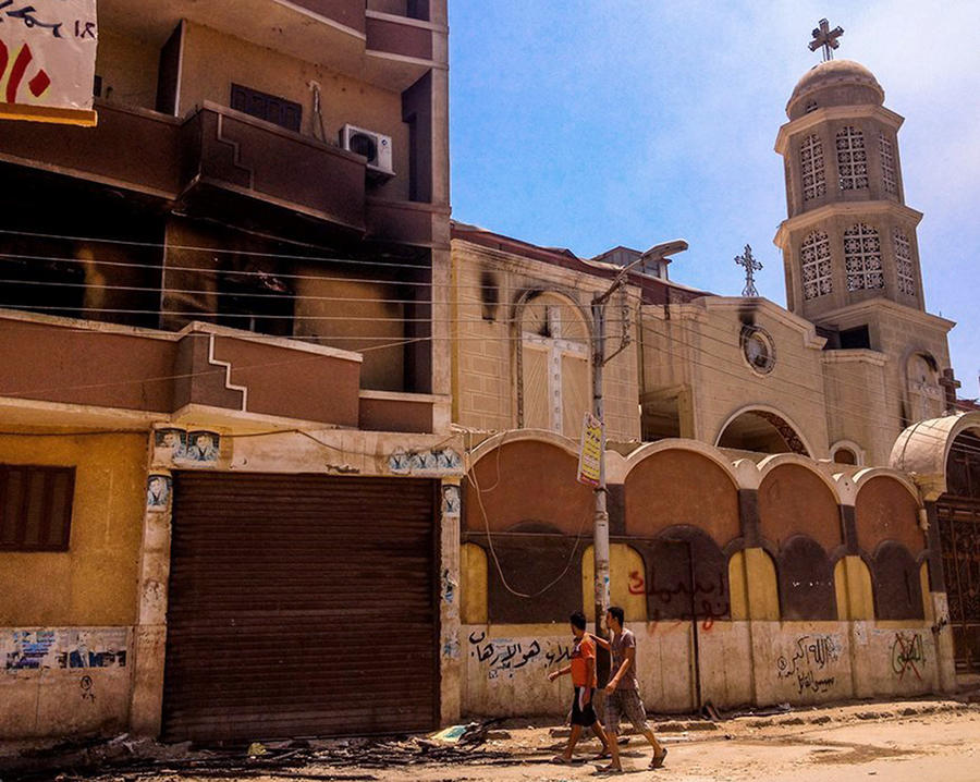 Правительство Египта начало восстановление разрушенных во время беспорядков церквей