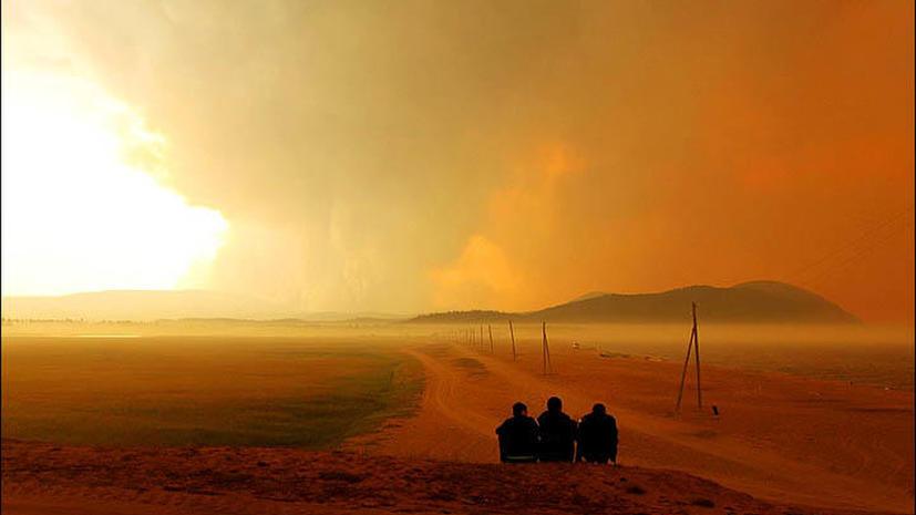 Ситуация с лесными пожарами в Байкальском регионе ухудшается