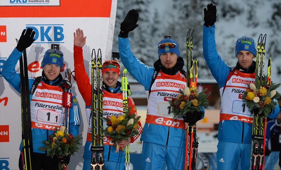 Российские биатлонисты завоевали первую награду в Олимпийском сезоне