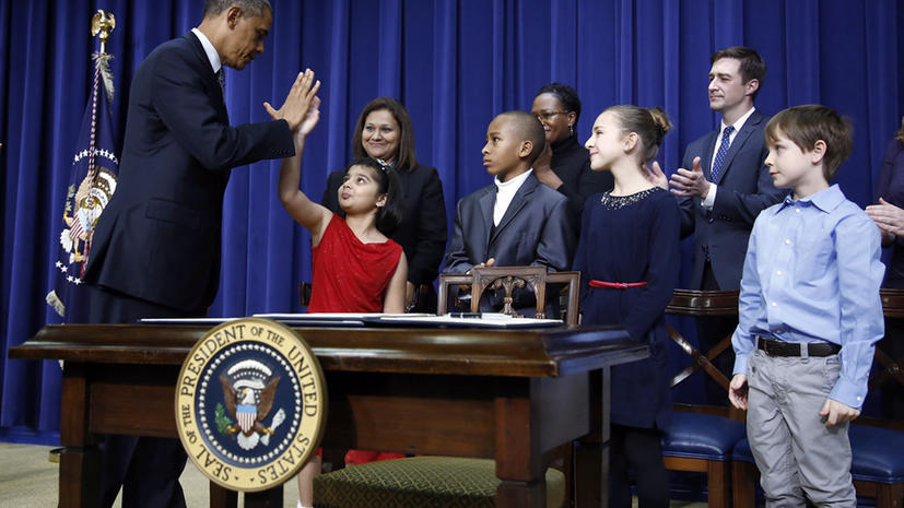 Третьеклассница попросила Обаму принять закон об оружии