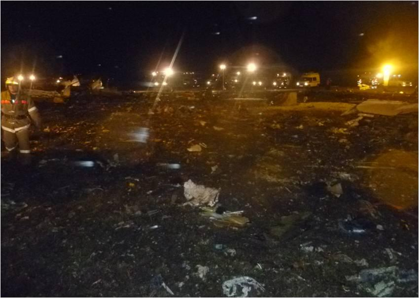 Росавиация: Разбившийся Boeing пытался уйти на второй круг, но задел лётное поле