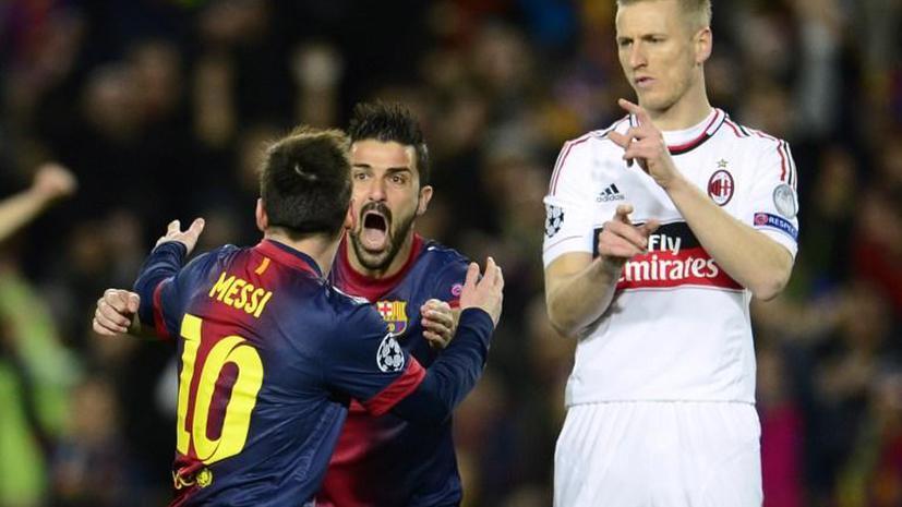 «Барселона» растоптала «Милан» и вышла в 1/4 финала Лиги чемпионов