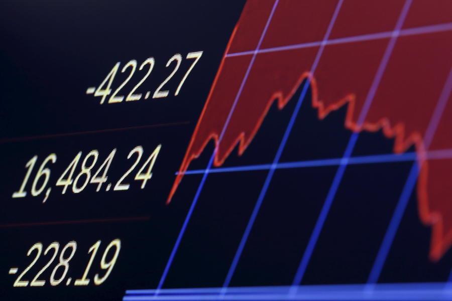 В США зафиксирован крупнейший в истории обвал фондового рынка