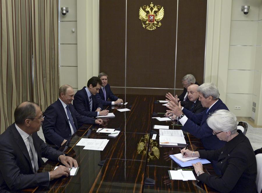 Американские СМИ: Встреча Владимира Путина и Джона Керри растопила лёд в отношениях РФ и США