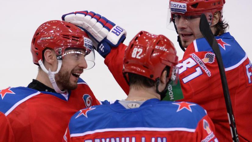 Московский ЦСКА начал с победы выступление в Кубке Шпенглера