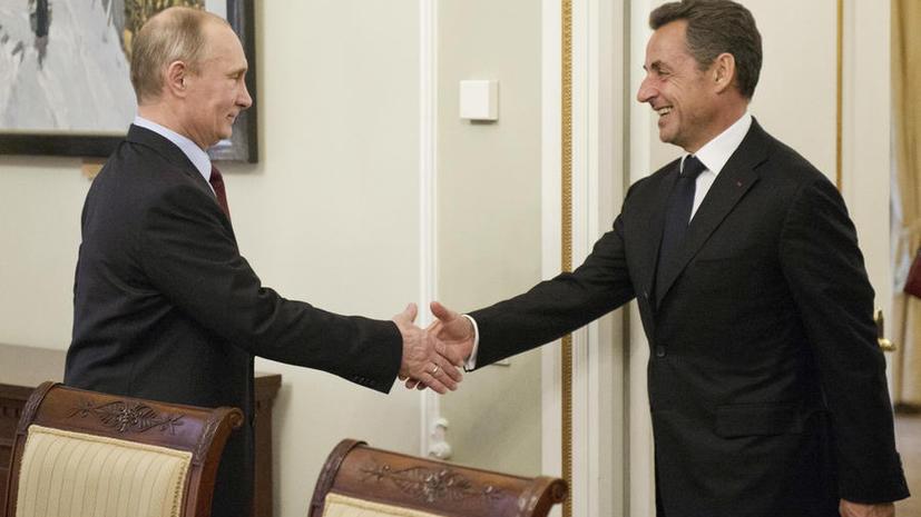 Французские СМИ: Встреча Владимира Путина и Николя Саркози заставит Запад скрежетать зубами