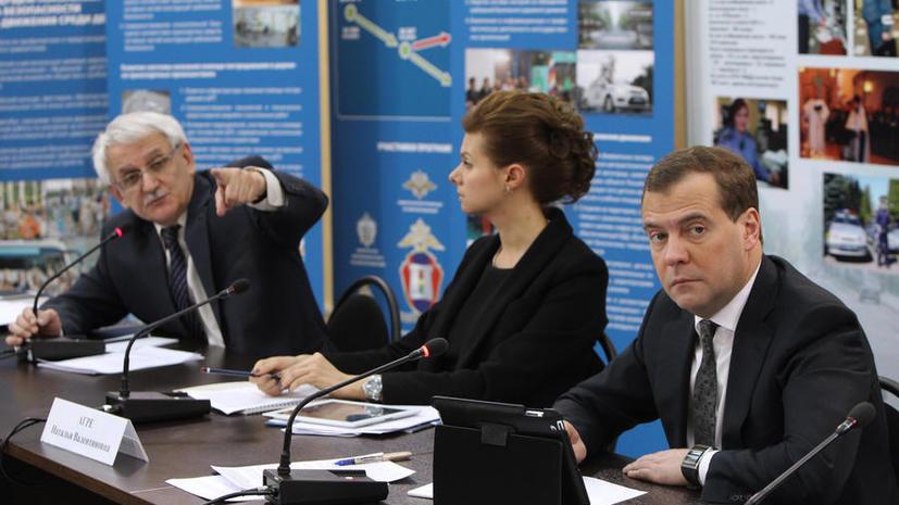 Дмитрий Медведев предложил увольнять чиновников за нарушение ПДД