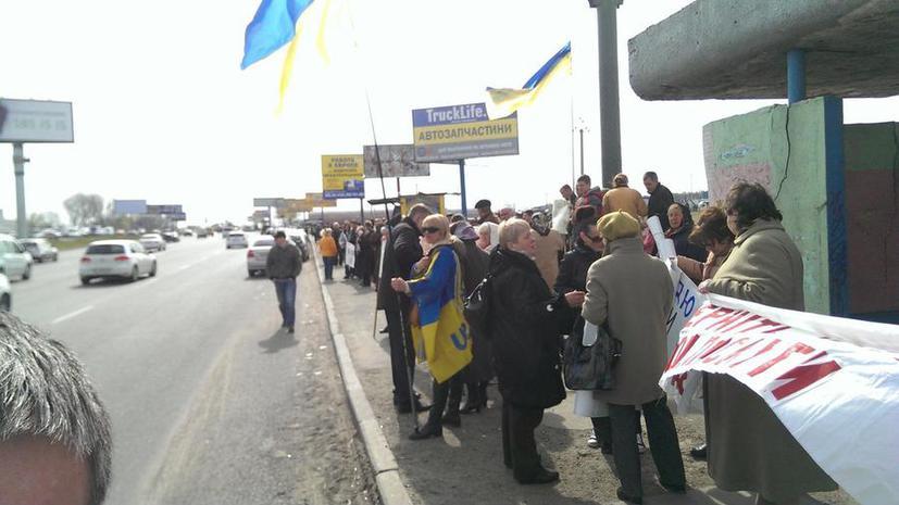 Митингующие в Киеве перекрывают дороги и требуют бороться с коррупцией