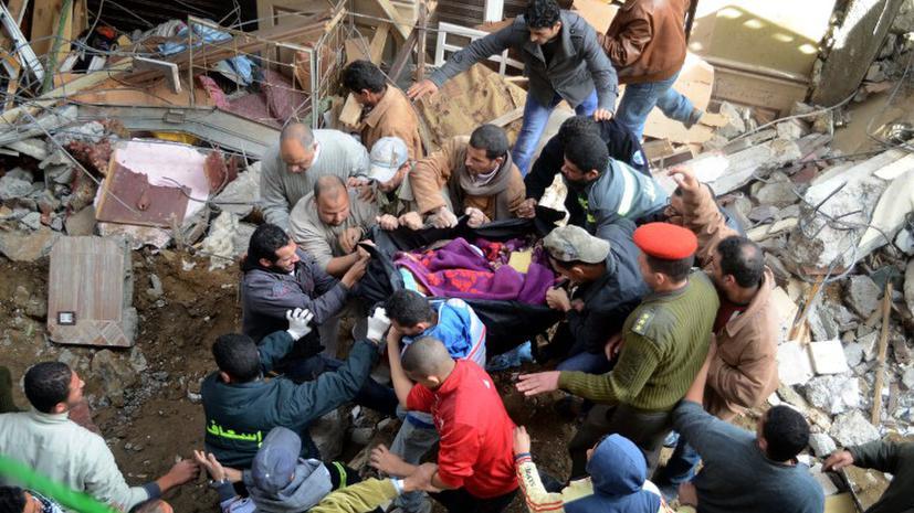 В Египте обрушилось жилое здание: десятки погибших и раненых