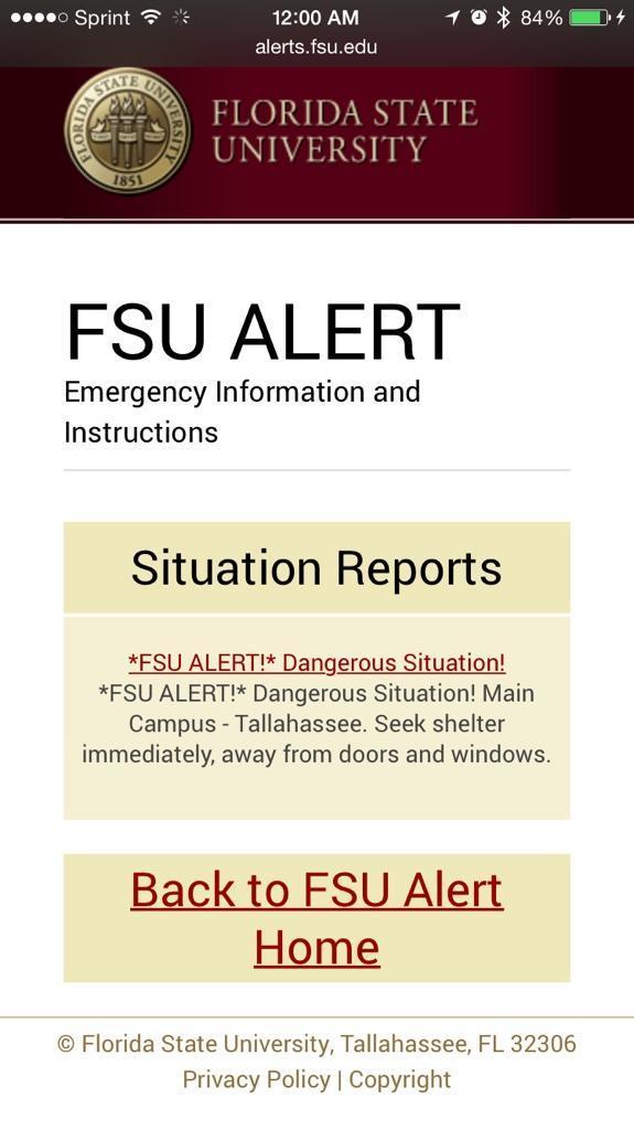 Неизвестный открыл стрельбу в студенческом городке Университета Флориды, трое ранены