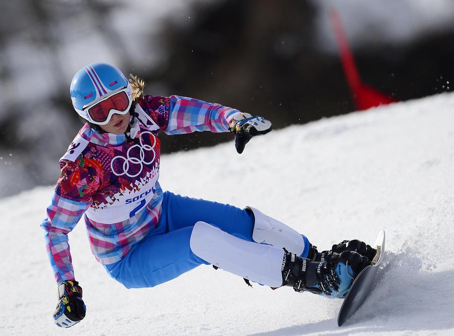 Российская сноубордистка Алёна Заварзина  завоевала бронзовую медаль Игр в Сочи