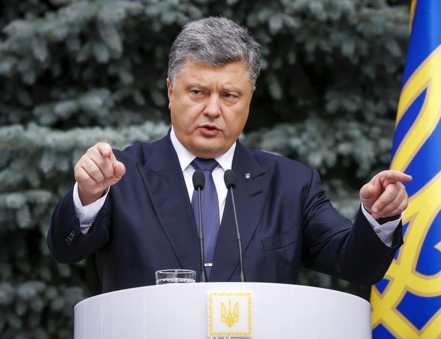 Пётр Порошенко в интервью западным СМИ обвинил Россию в организации беспорядков в Киеве
