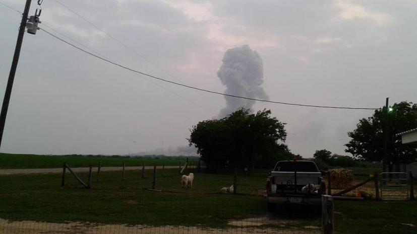 Взрыв в Техасе - прямая трансляция с места происшествия