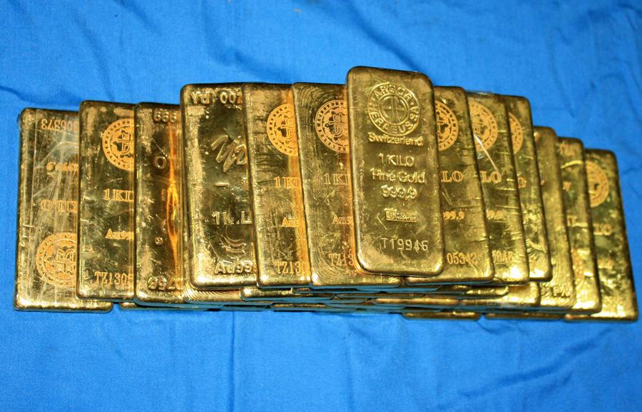 В Китае украли тонну золотых слитков