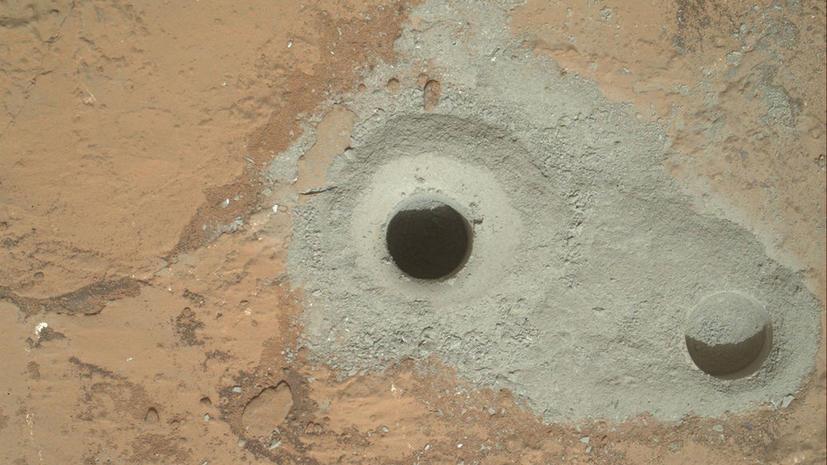 Curiosity пробурил поверхность Марса, чтобы найти воду