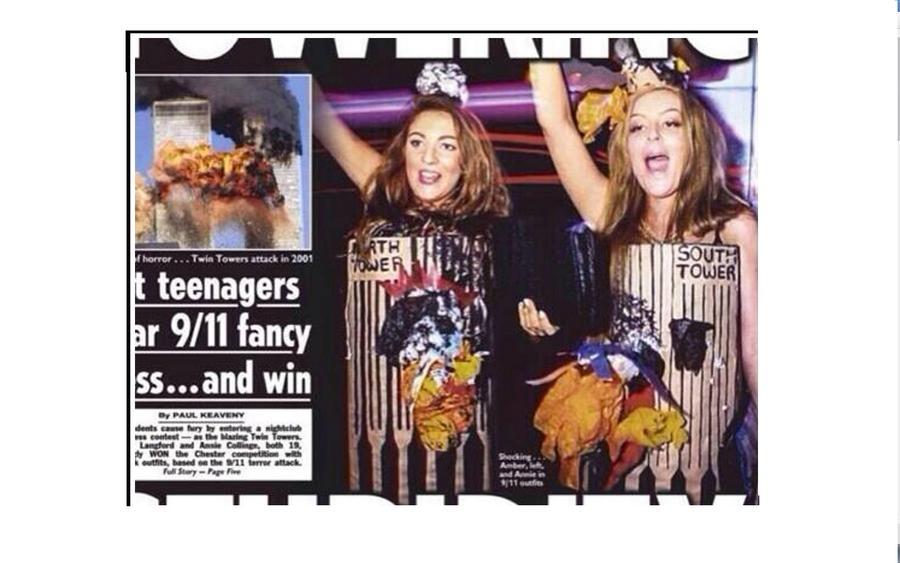 Две британки извинились за празднование Хэллоуина в костюмах башен-близнецов