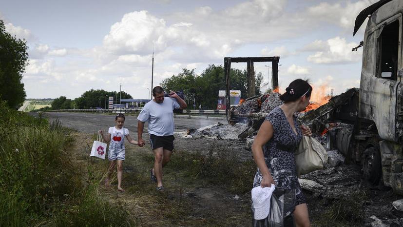 Киевские власти продолжают обстрел юго-востока: ВВС Украины нанесли ракетно-бомбовый удар по пригороду Луганска